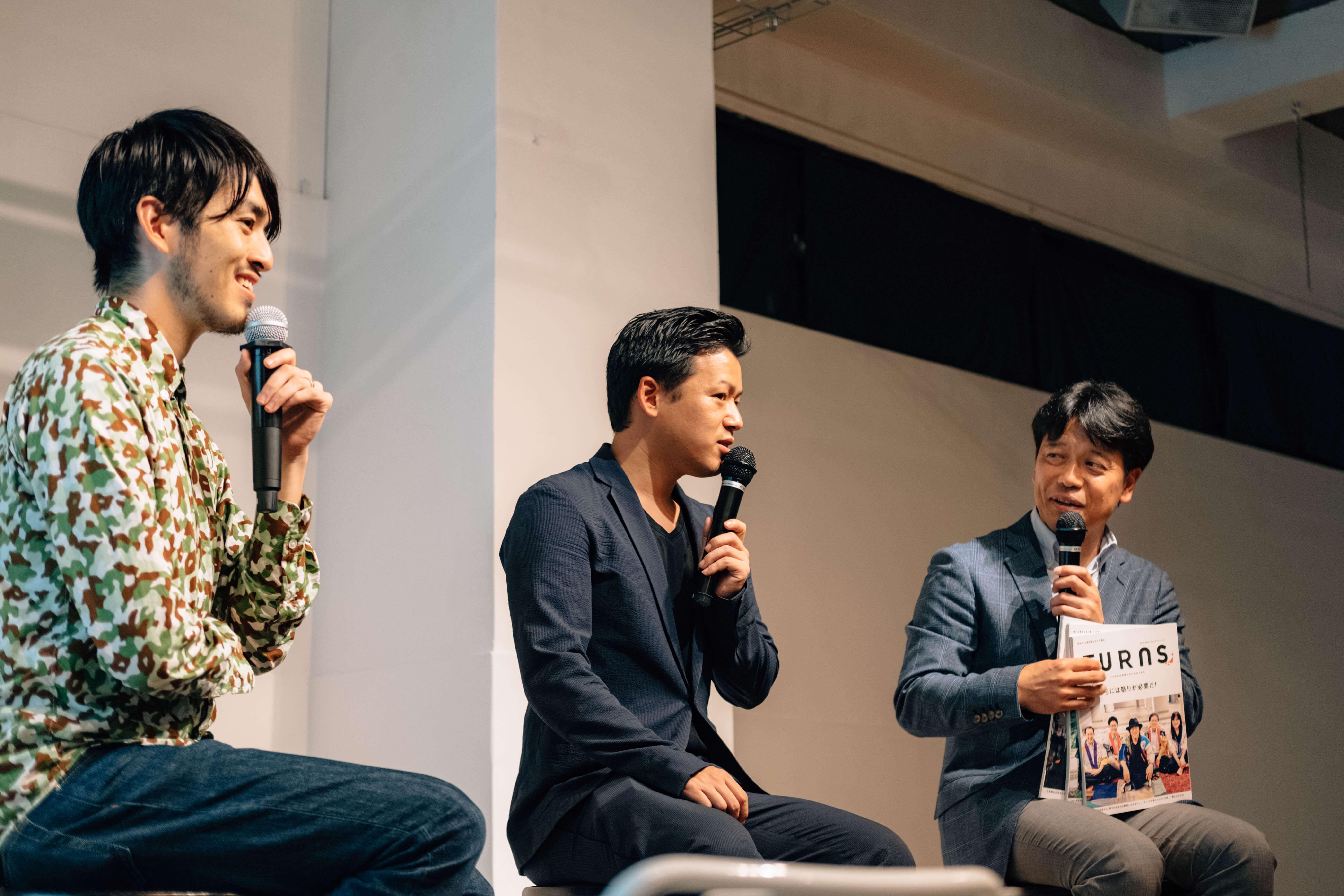 写真右:TURNS プロデューサー 堀口正裕氏