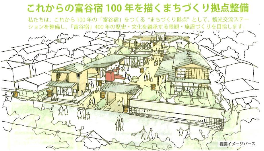 (仮称)富谷宿観光交流ステーションの完成イメージ図