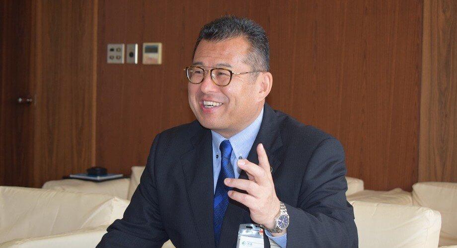愛媛県西条市・玉井敏久市長。2016年11月の就任以来、「ワクワク度日本一のまち西条」を掲げて西条市の一連の取り組みを牽引している。