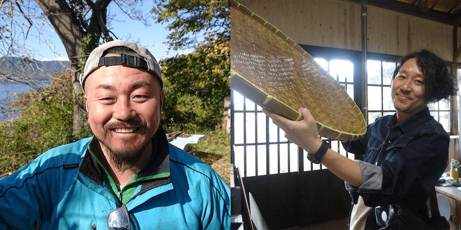 写真左>レモン農家の永井英夫さん / 写真右> レモンラボ代表の石崎浩太郎さん