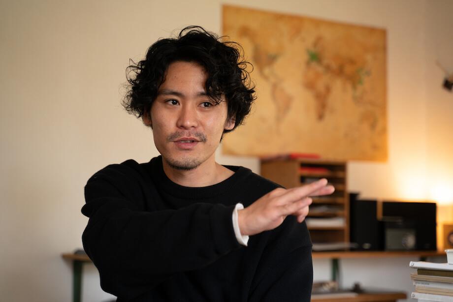 「Fuji Matsuyama BASE」オーナーの小野大暉さん。